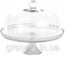 Подставка стеклянная для торта с крышкою 29 см