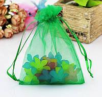 Мешочек из органзы /размер 7х9 см./ упаковка подарков/ цвет зеленый
