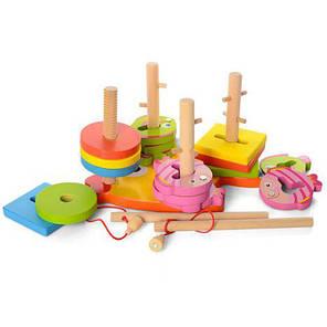 Деревянная игрушка Геометрик-рыбалка, фото 2