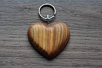 Брелок Велике серце лаковане з лазерним гравіюванням