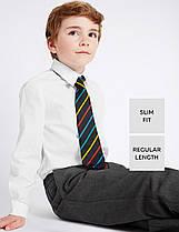 Школьная рубашка Slim Fit белая с длинным рукавом на мальчика 10-11 лет Marks&Spencer (Англия