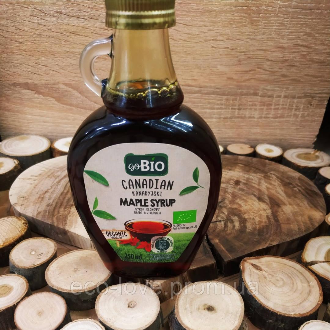 Кленовый сироп goBio Canadian Maple Syrup, 250 ml