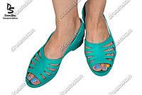 Женские туфли лодочка бирюзовые ( Код : ПЖ-22)