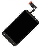 Дисплейный модуль (дисплей + сенсор) для HTC Desire X T328e, черный, оригинал
