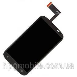 Дисплей для HTC Desire X T328e, модуль в сборе (экран и сенсор), черный, оригинал