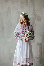 Свадебное платье украинское в стиле этно.