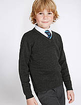 Школьный джемпер темно-серый на мальчика 10-11 лет Charcoal George (Aнглия)