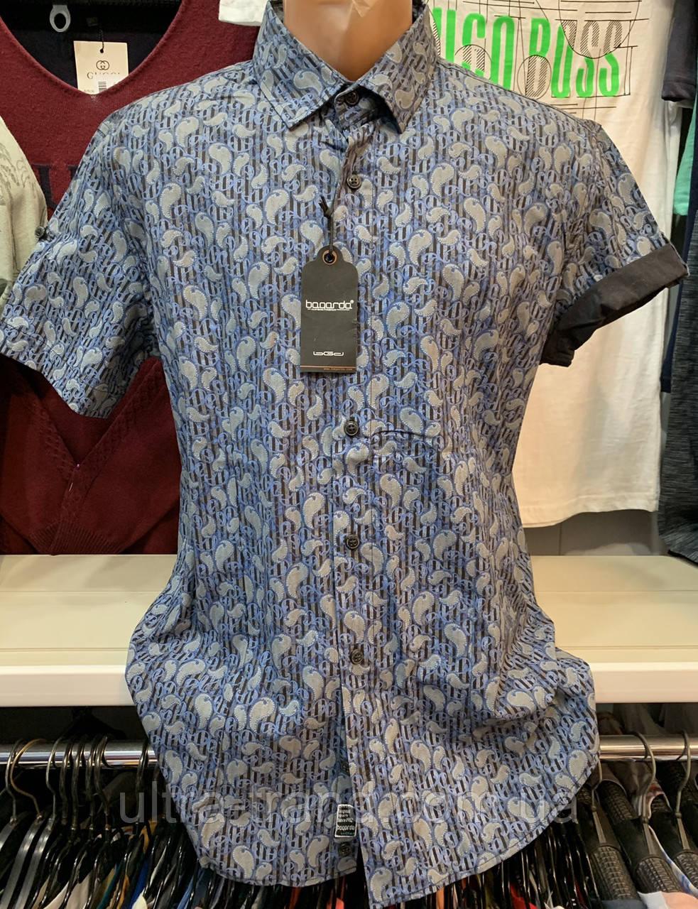 Стильные хлопковые турецкие мужские рубашки сорочки Bagarda