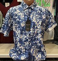 Качественные хлопковые турецкие мужские рубашки сорочки с коротким рукавом, фото 1