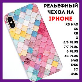 Чехол на iPhone с рельефным принтом Fresco