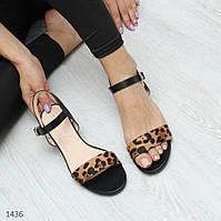 Босоножки на маленьком каблуке, леопард 37,41 размер