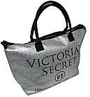 Сумка женская спортивная Victoria's Secret (34x35x22) серебро, фото 2