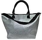 Сумка женская спортивная Victoria's Secret (34x35x22) серебро, фото 3