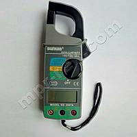 Клещи токоизмерительные цифровые SUNWA 2007A AC600A AC750В 400Ом Ø30мм звуковая прозвонка (PR1654)