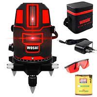 Профессиональный лазерный уровень нивелир 5 линий 6 точек WOSAI WS-A5 (z01716)