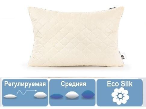 Подушка Carmela 70х70 EcoSilk антиаллергенная СРЕДНЯЯ 119