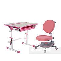 Растущий комплект FunDesk Lavoro L Pink + Детское ортопедическое кресло SST1 Pink