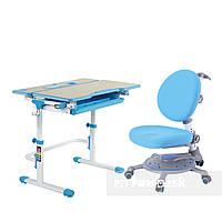 Растущий комплект FunDesk Lavoro L Blue + Детское ортопедическое кресло SST1 Blue