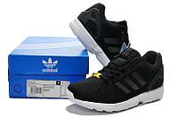 Кроссовки мужские Adidas ZX Flux черные, фото 1
