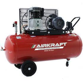 Компрессор поршневой с ременным приводом, Vрес=300л, 800л/мин, 380V, 5,5кВт AIRKRAFT AK300-800-380