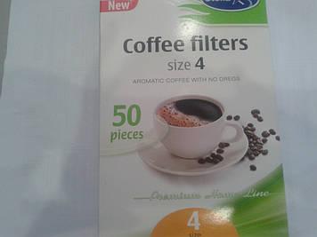 Фільтри паперові для крапельних кавоварок № 4 (50шт/уп)