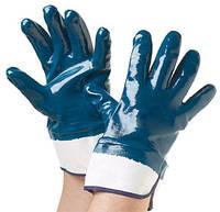 Перчатки (двойное покрытие нитрилом) жесткий манжет/трикотажный манжет, фото 1