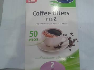 Фільтри паперові для крапельних кавоварок № 2 (50шт/уп)