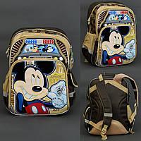 Рюкзак МВ 0479 / 555-512, 2 отделения, 4 кармана, брелок, ортопедическая спинка, бежевый