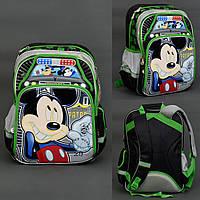 Рюкзак МВ 0479 / 555-512, 2 отделения, 4 кармана, брелок, ортопедическая спинка, зеленый
