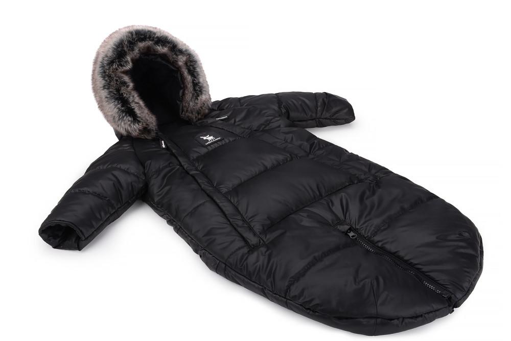 Зимний комбинезон - трансформер Cottonmoose Moose 0-6 M 767/65 black (черный)