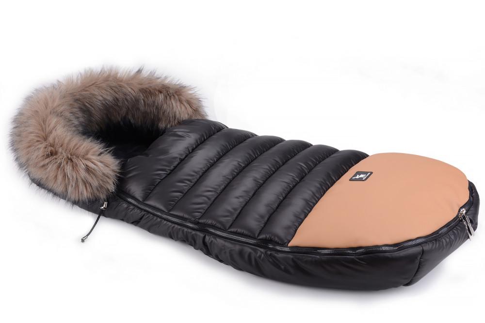 Зимовий конверт Cottonmoose Alaska Premium 729/65/107/143 brown (чорний-коричневий)