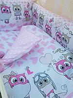 Детское постельное бельё в кроватку ТМ Bonna купон Розовое