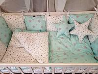 Детское постельное бельё в кроватку ТМ Bonna Перфект Мятное, фото 1