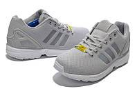 Кроссовки мужские Adidas ZX Flux серые, фото 1