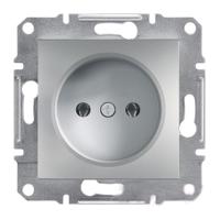 Розетка EPH3000161 без заземления ASFORA Schneider Electric Алюминий