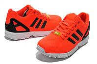 Кроссовки мужские Adidas ZX Flux оранжевые, фото 1