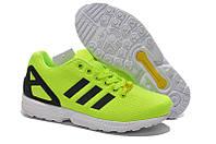 Кроссовки мужские Adidas ZX Flux салатовые, фото 1