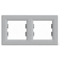 Рамка двухпостовая, горизонтальная ASFORA Schneider Electric Алюминий