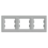 Рамка трехпостовая, горизонтальная ASFORA Schneider Electric Алюминий