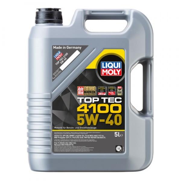 Синтетическое моторное масло Liqui Moly - Top Tec 4100 SAE 5W-40 5 л.