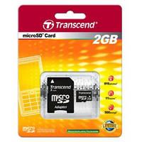 MicroSD Transcend 2GB + SD adapter (TS2GUSD)
