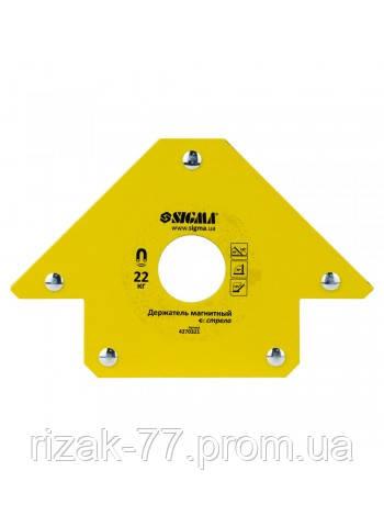 """Уголок Магнитный для сварочных работ, """"стрела"""" 22 кг. 90×90 мм. (45,90,135°) Sigma (4270321)"""