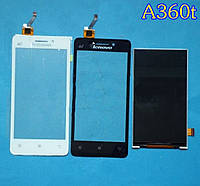Lenovo A360T white 4G тачскрин оригинальное cтекло сенсорного экрана, сенсорная панель,