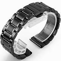 Металлический ремешок для Смарт-часов Samsung Gear S3, S4, 22мм - Black