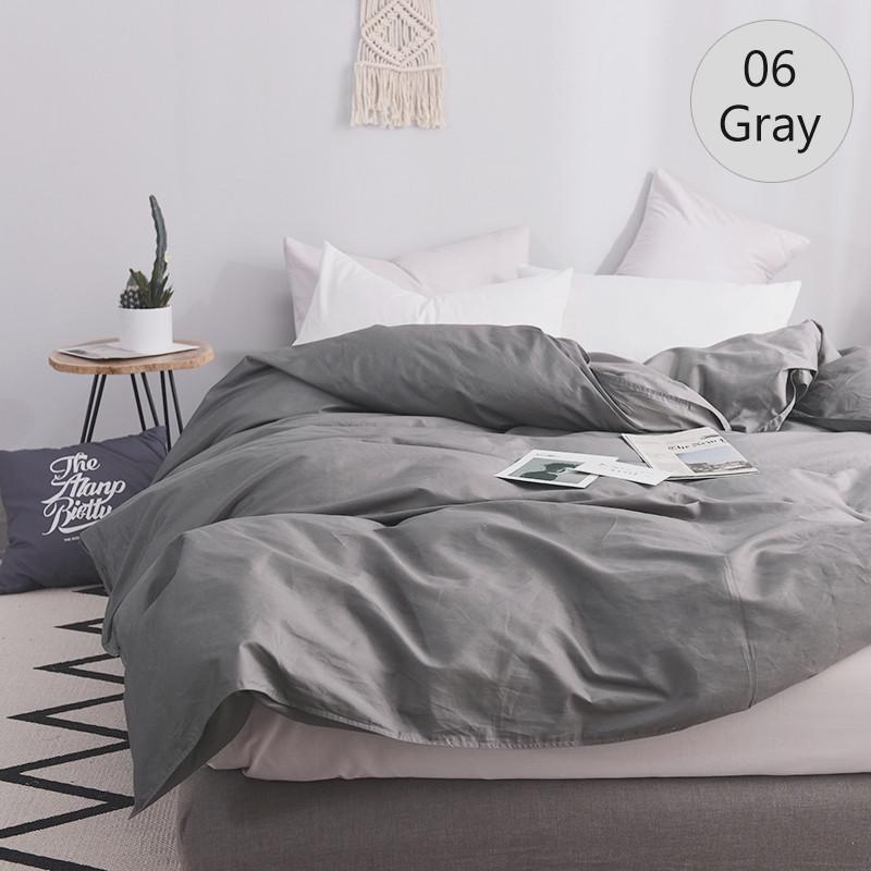 Однотонное постельное белье микс Серый  и Белый, поплин Lux, разные размеры