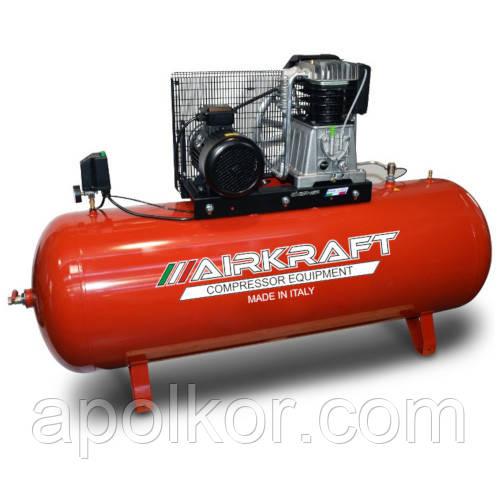 Компрессор поршневой с ременным приводом, Vрес=500л, 1070л/мин, 380V, 7,5кВт AIRKRAFT AK500-988-380
