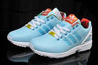 Кроссовки мужские Adidas ZX Flux голубые, фото 1