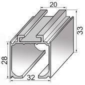 Верхняя направляющая для раздвижных дверей S  2 м до 200кг (на ролики 028,026,024)