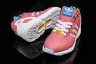 Кроссовки мужские Adidas ZX Flux розовые, фото 1
