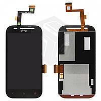 Дисплейный модуль (дисплей + сенсор) для HTC Desire SV T326e, черный, оригинал